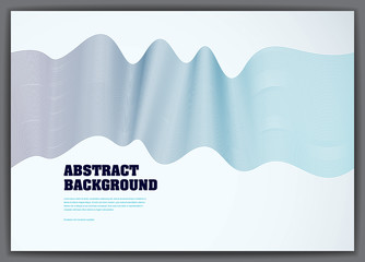 Wavy lines vector fluid abstract background. 3d colorful gradient motion art. Lined texture, dynamic surface, curve lines, flow shape.