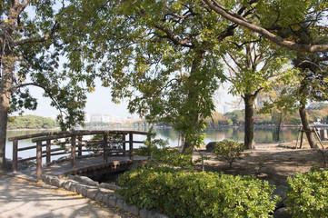 福岡市 大濠公園の風景