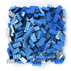 Blue plastic blocks
