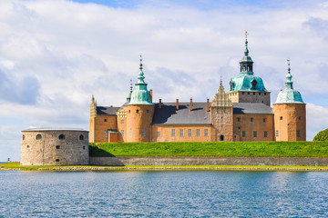 Kalmar castle on a sunny summer day close-up, Sweden.