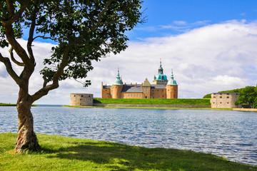 Kalmar castle on a sunny day, Sweden.