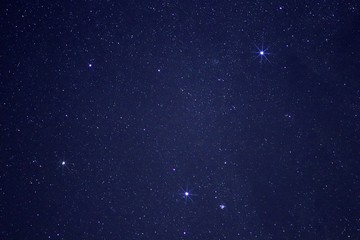 Southern Cross in the sky of New Zealand