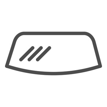 Windshield line icon. Windscreen vector illustration isolated on white. Car window outline style design, designed for web and app. Eps 10.