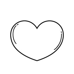 heart love symbol in black and white