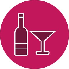 Wine Food Glyph Circle Icon