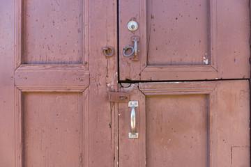 El detalle de una puerta