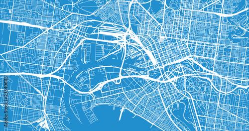 Melbourne Australia City Map.Urban Vector City Map Of Melbourne Australia Stock Image And