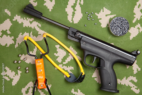 hunting kit, air gun slingshot for shooting, bullets