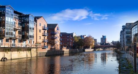 Leeds waterfront, urban regeneration Fototapete