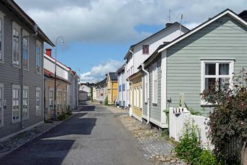 Straßenzug in der Altstadt Östänbäcken Härnösand