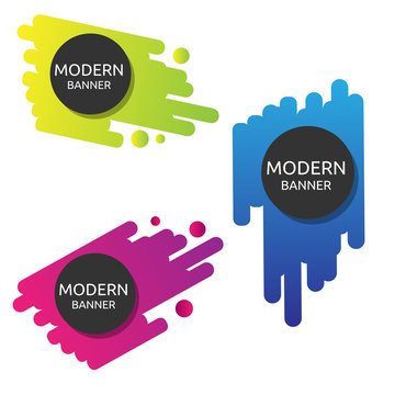 color nice funny logo Modern banner collection