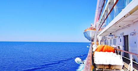 Cubierta de trasatlántico o crucero