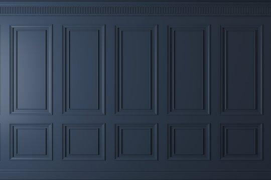 Classic wall of dark wood panels