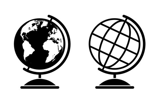 Vector globe illustrations
