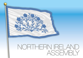 Northern Ireland Assembly flag, United Kingdom, vector illustration