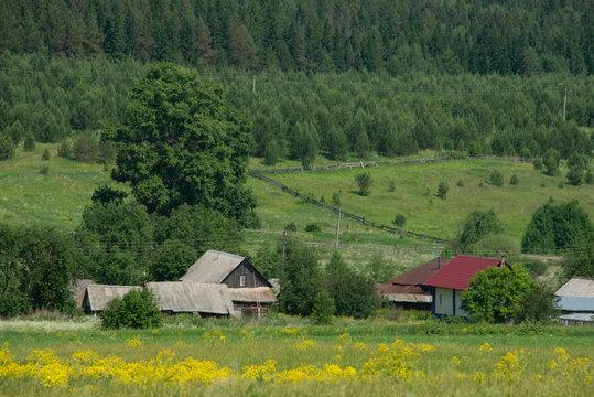rural  landscape of Russian Ural