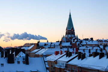 roofs of the city of Stockholm