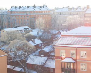 Old houses in Stockholm