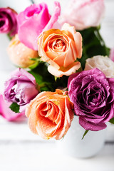 Wall Mural - bunch of pink roses