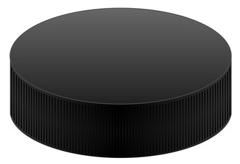 Realistic black puck vector eps 10