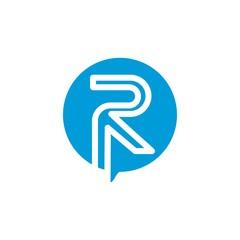R logo vector icon template