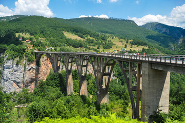 Durdevica Tara Bridge in Montenegro