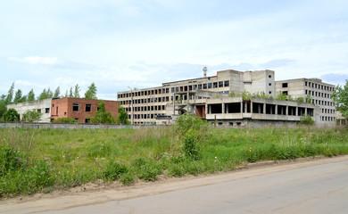 The abandoned optical-mechanical plant. Rybinsk, Yaroslavl region