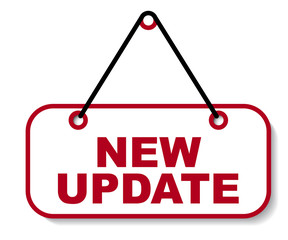 red vector banner new update