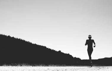 Triathlet im Wettkampf