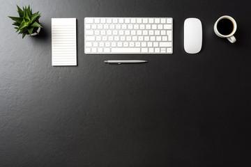 Modern office desktop with copy space