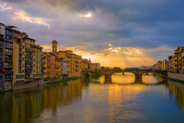 View of the Arno from the Ponte Vecchio