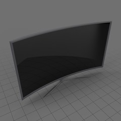 Modern curved television off