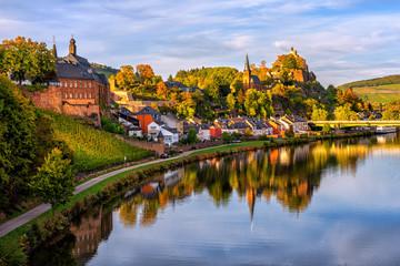 Saarburg Old town on a hills of Saar river valley, Germany