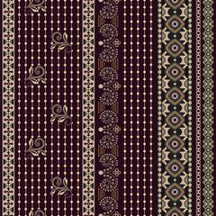 Foto op Aluminium Botanisch Folk ornamental seamless pattern. Geometric ethnic wallpaper, colorful backdrop. Abstract geometric pattern