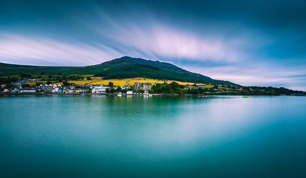Panorama Overlooking Carlingford Lough. Co Lough. Ireland