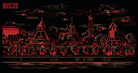 Vector black-red Moscow-5