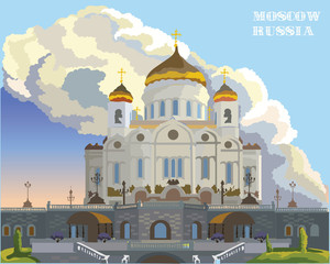 Vector colorful Moscow-10