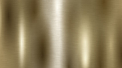 Abstract background with metal texture in golden color