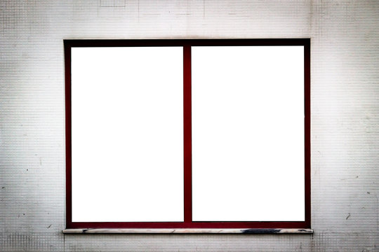 Window Advertisement Mockup