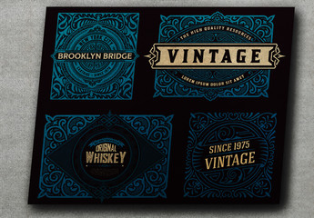 4 Vintage-Style Packing Label Layouts