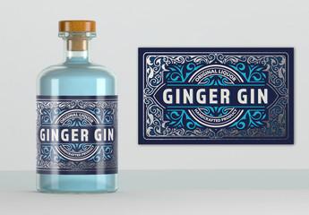 Vintage-Style Liquor Label Layout