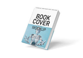 Hardcover Book Isolated on White Mockup