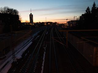 railway night