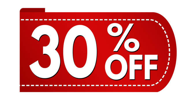 Special offer 30 % off banner design