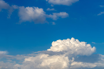 View abstract white clouds on a blue sky.