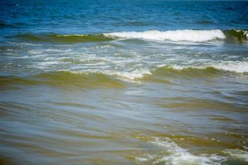 Sea Waves breaking on shore