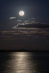 Closeup of full moon, taken on September 28, 2015