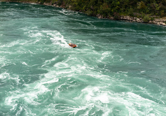 Niagara Gorge Whirlpool and rapids with boat