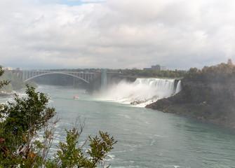 Niagara Falls: American Falls and Rainbow Bridge