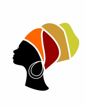 profile of a beautiful African woman